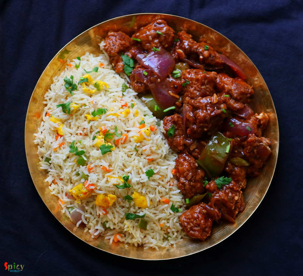 Egg Fried rice, Chili Chicken