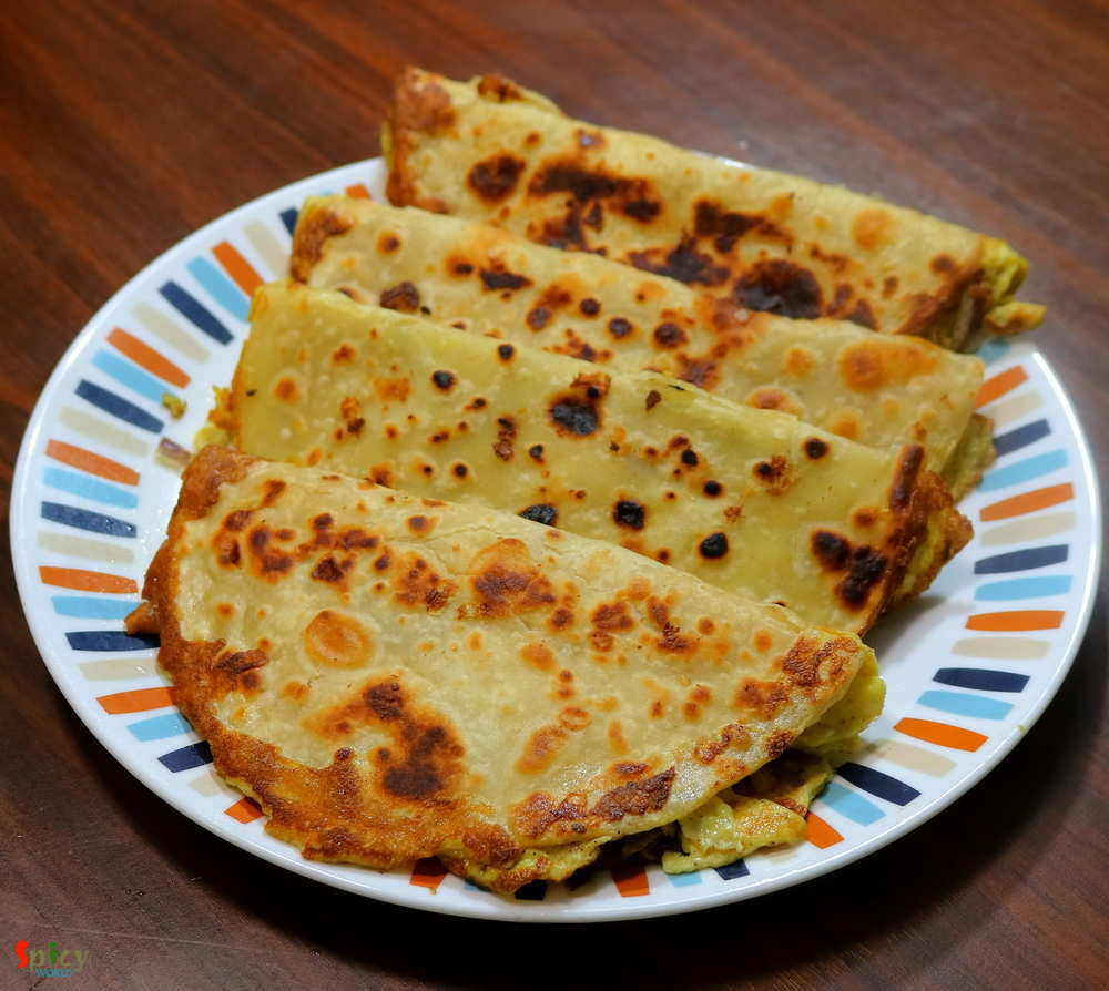 Egg Paratha or Dim Porota