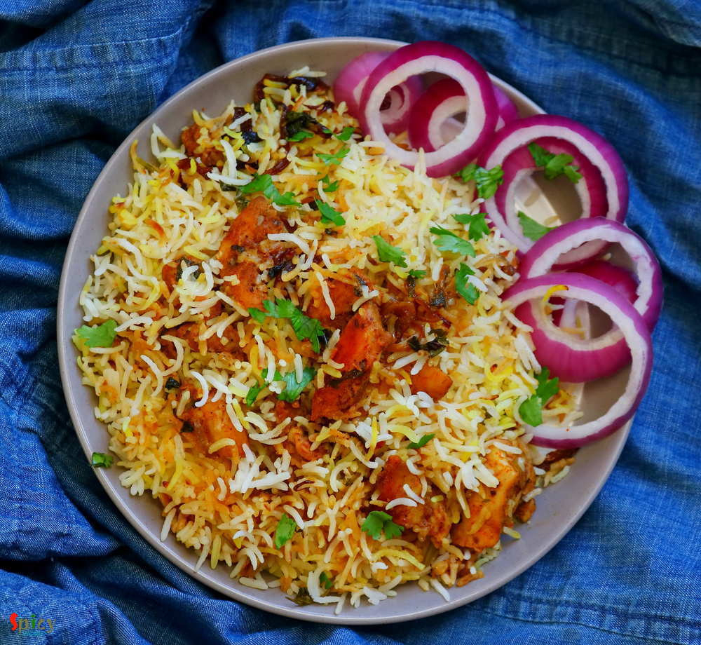 Hyderabadi Boneless Chicken Biriyani