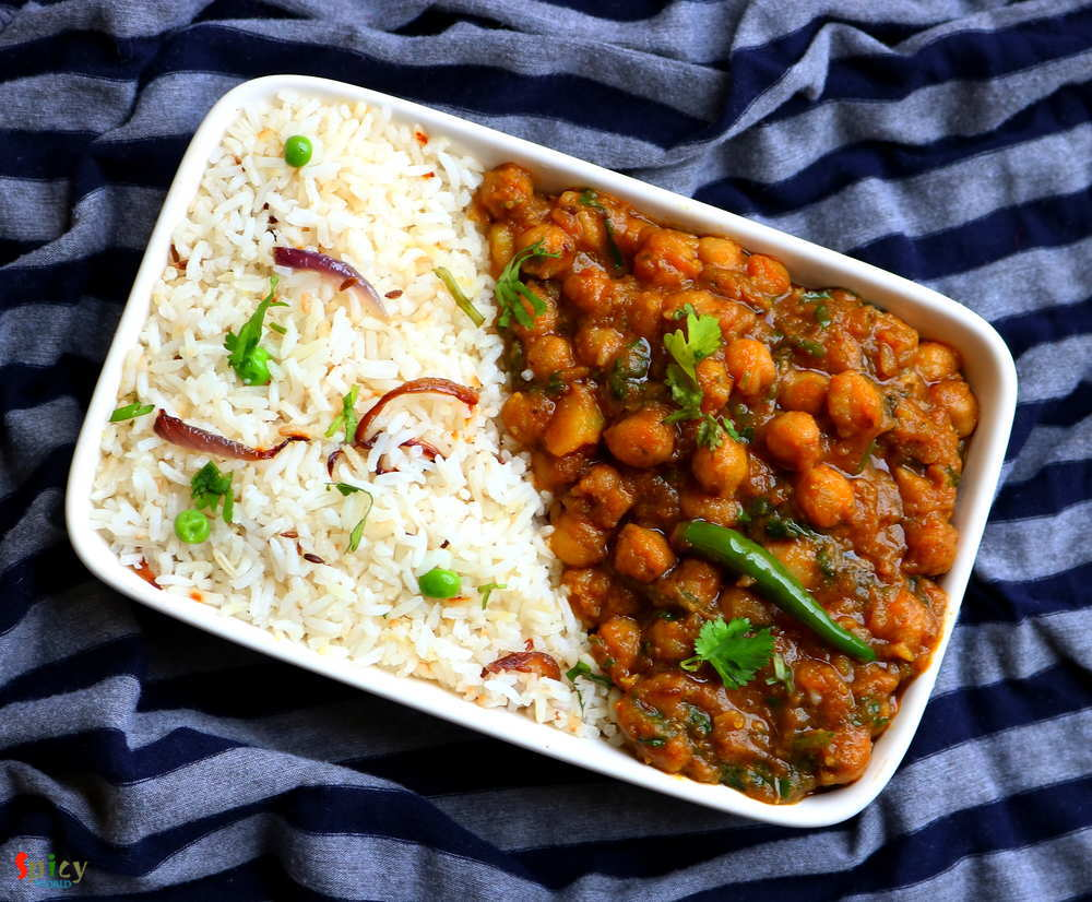 Jeera Rice & Chana Masala