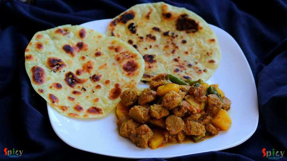 Paratha, Soya chunks curry