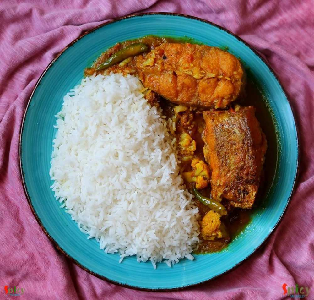 Rice and Fish curry
