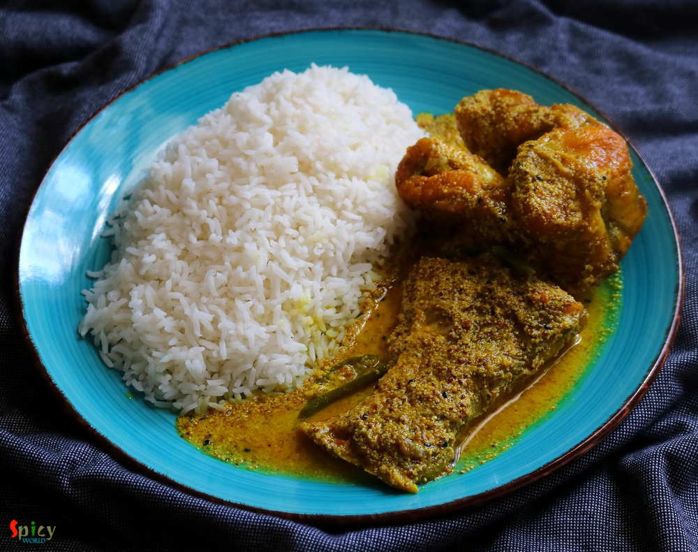 Rice & Fish Mustard Curry