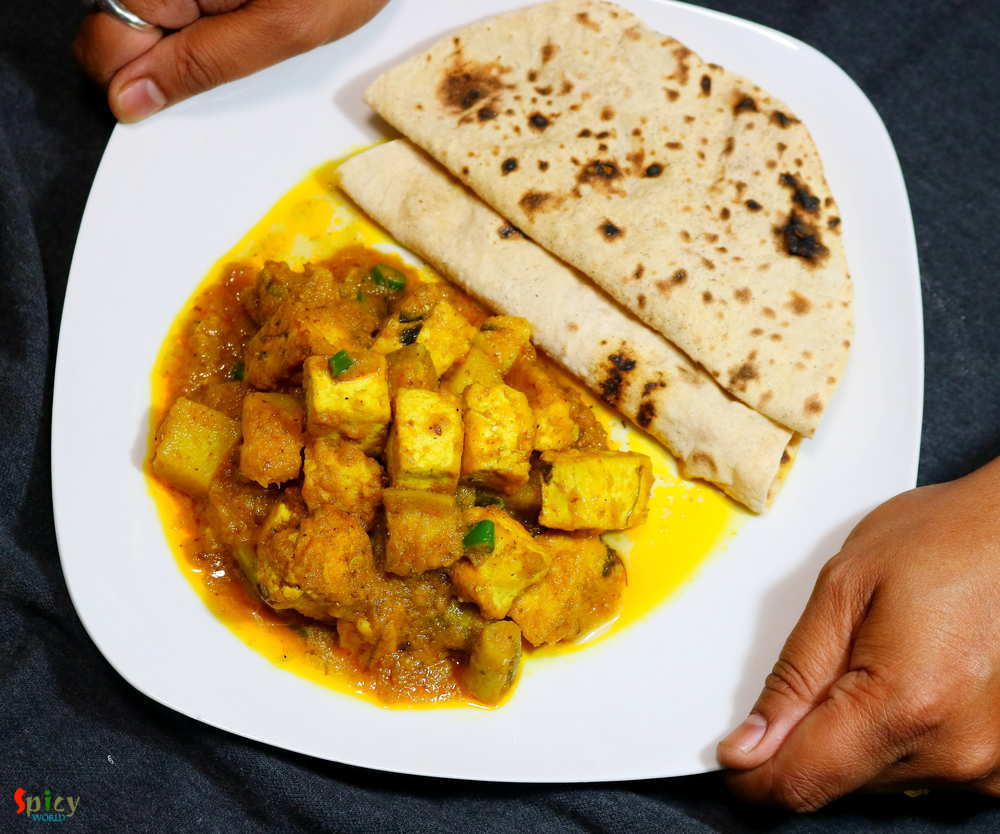 Ruti, Aloo paneer curry