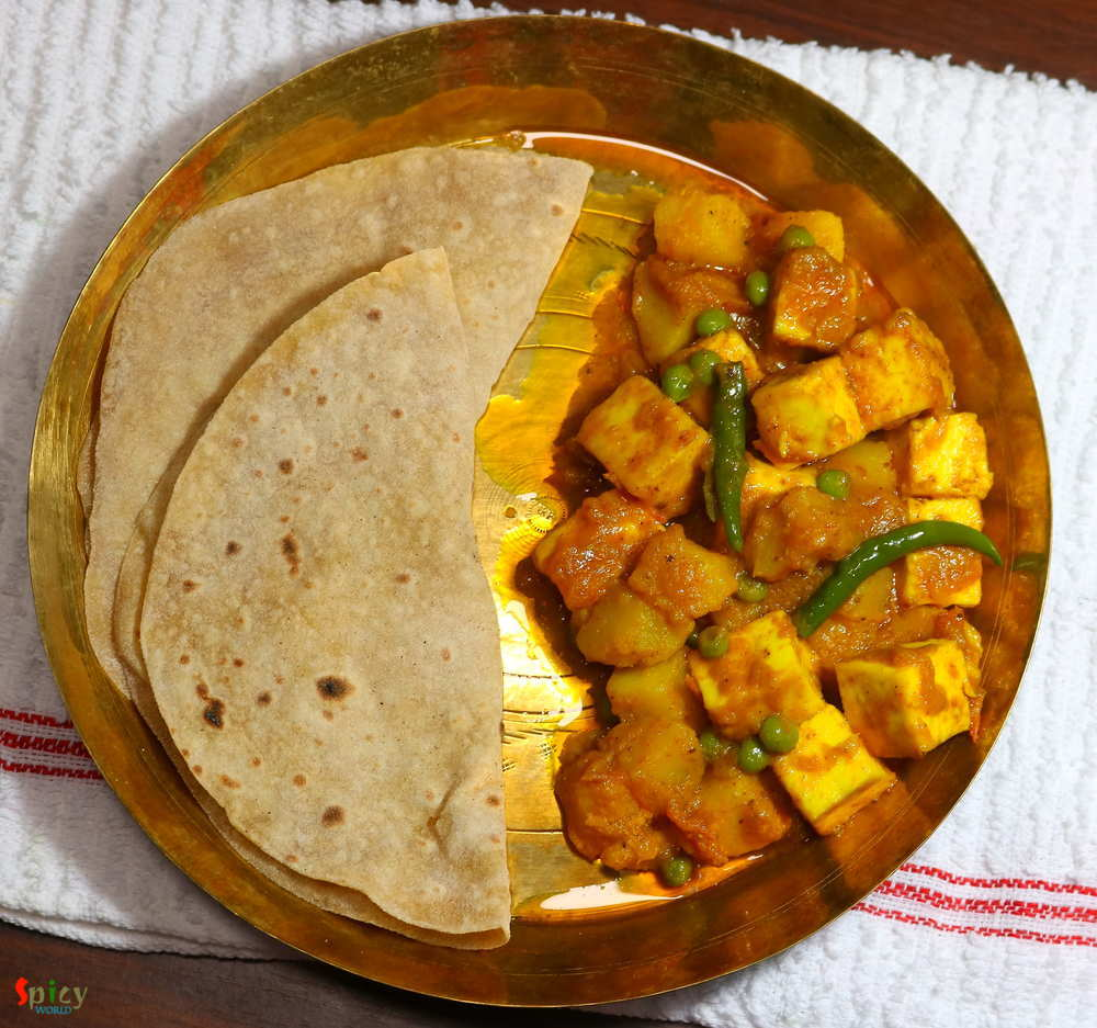 Ruti and Aloo Paneer torkari