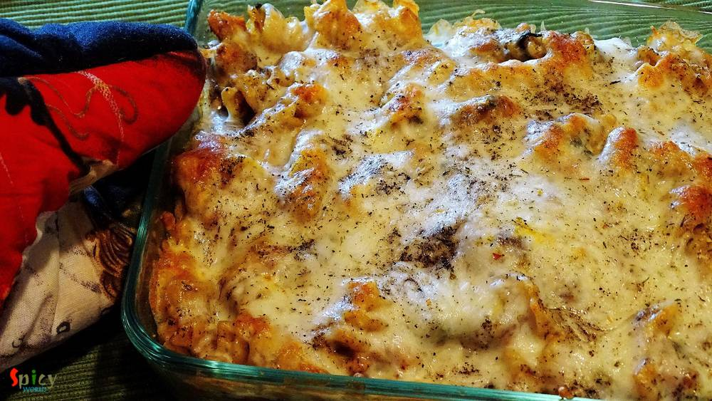Baked Spicy Chicken Pasta