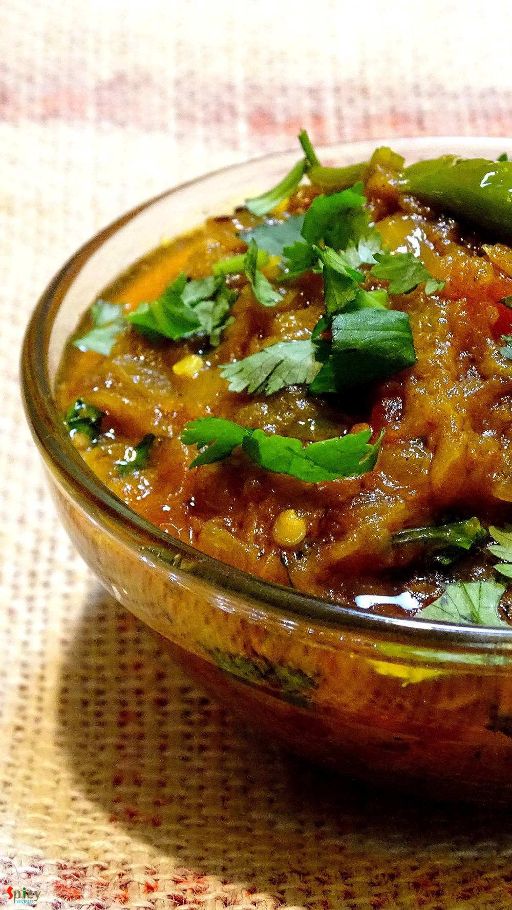 Baingan ka Bharta / Begun Bhorta / Smoked eggplant curry