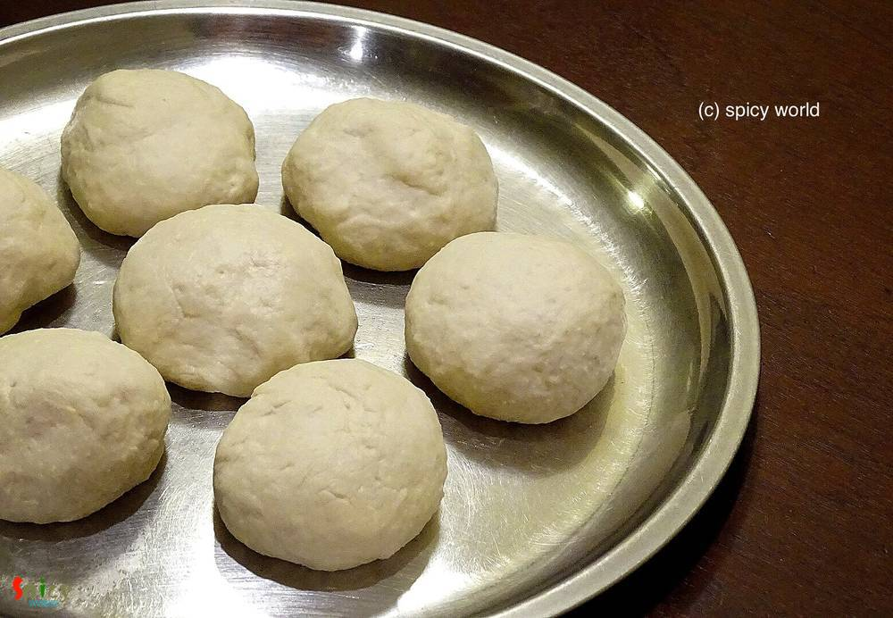 Cooking Step: Bhatura (with Yeast)