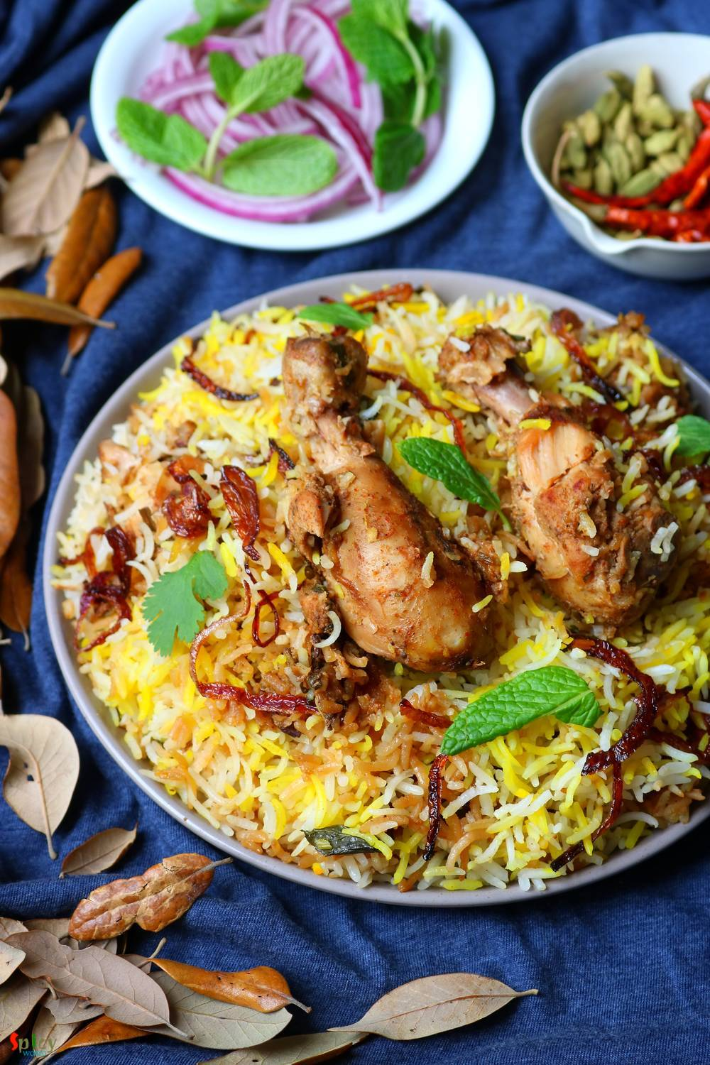Chicken Dum Biriyani (Hyderabadi style)