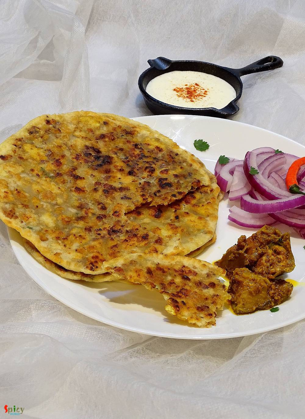 Cooking Step: Chicken Keema Paratha / Stuffed Flat bread with minced Chicken