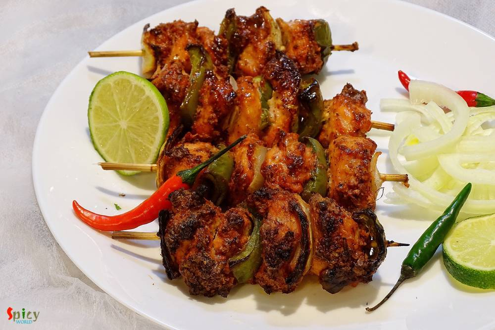 Cooking Step: Chicken Tikka Kabab / Kebab