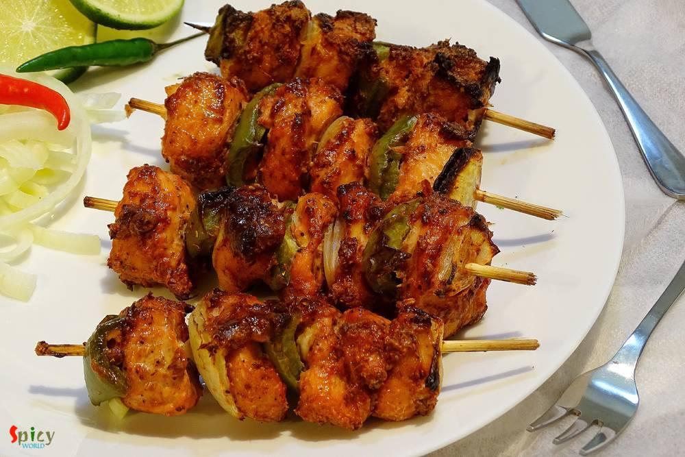 Chicken Tikka Kabab Kebab Spicy World Simple And Easy Recipes By