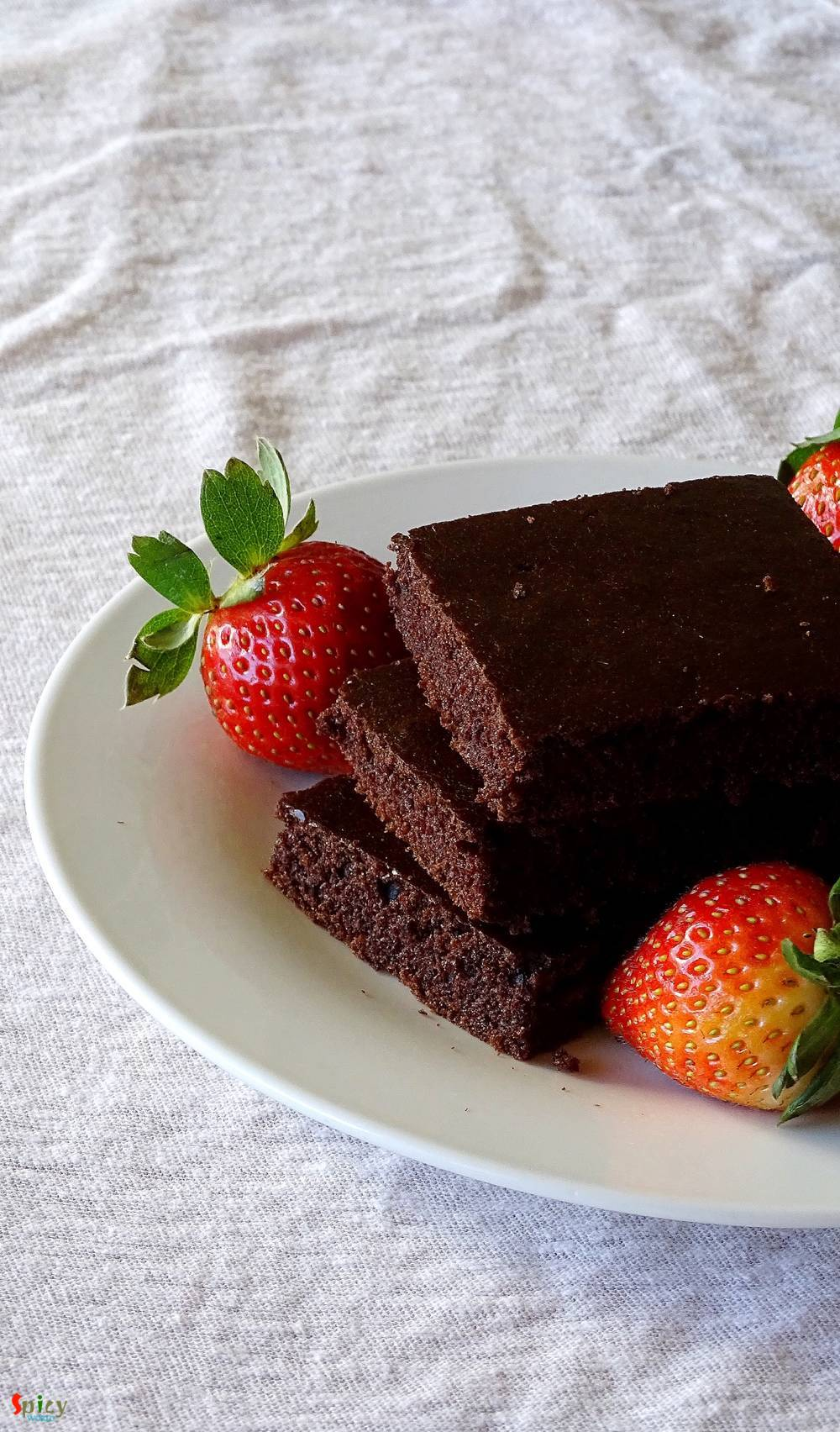 Chocolate Cake Squares Vegan Spicy World Simple And