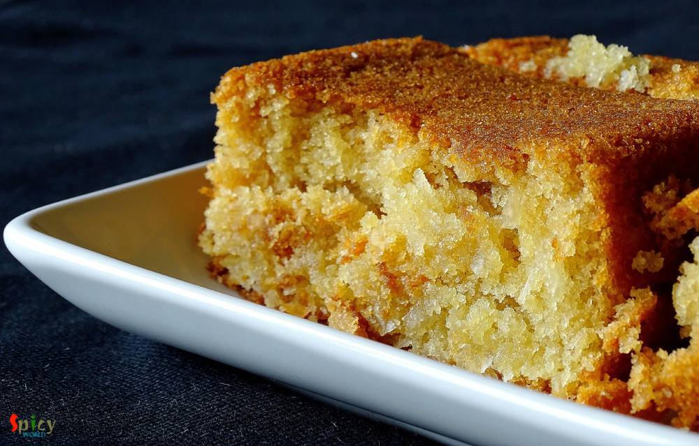 Soft Coconut Cake (Egg Less)