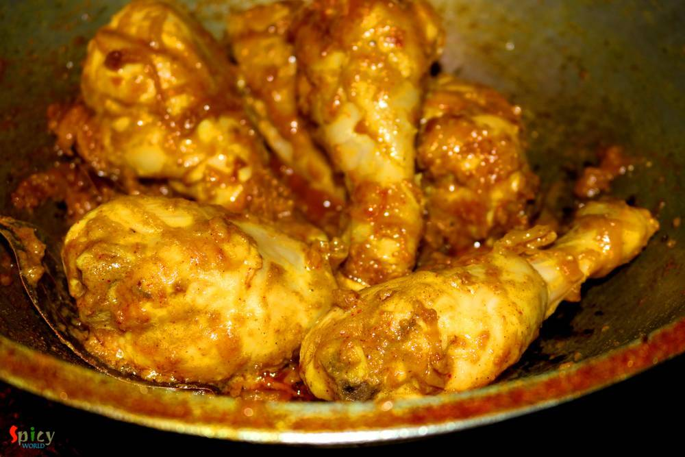 Cooking Step: Dhaba style Chicken Curry