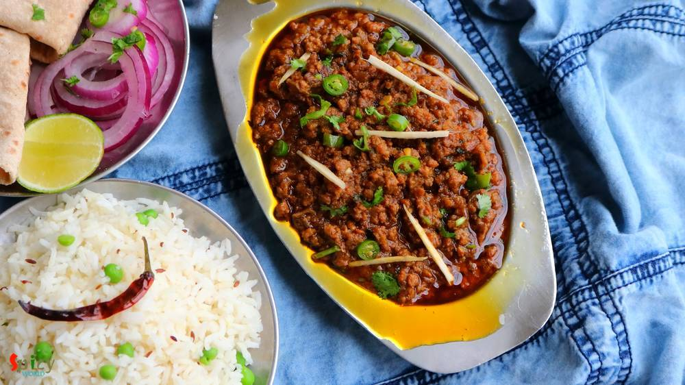 Dhaba style Keema Masala / Minced Mutton Curry