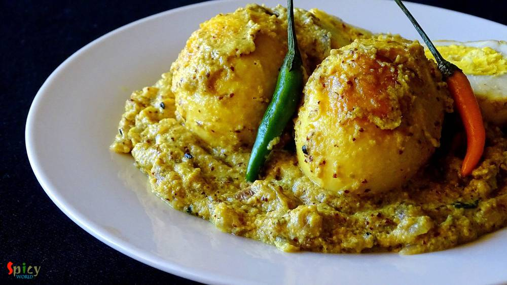 Cooking Step: Sorshe Dim Posto / Egg curry with Mustard and Poppy seeds paste