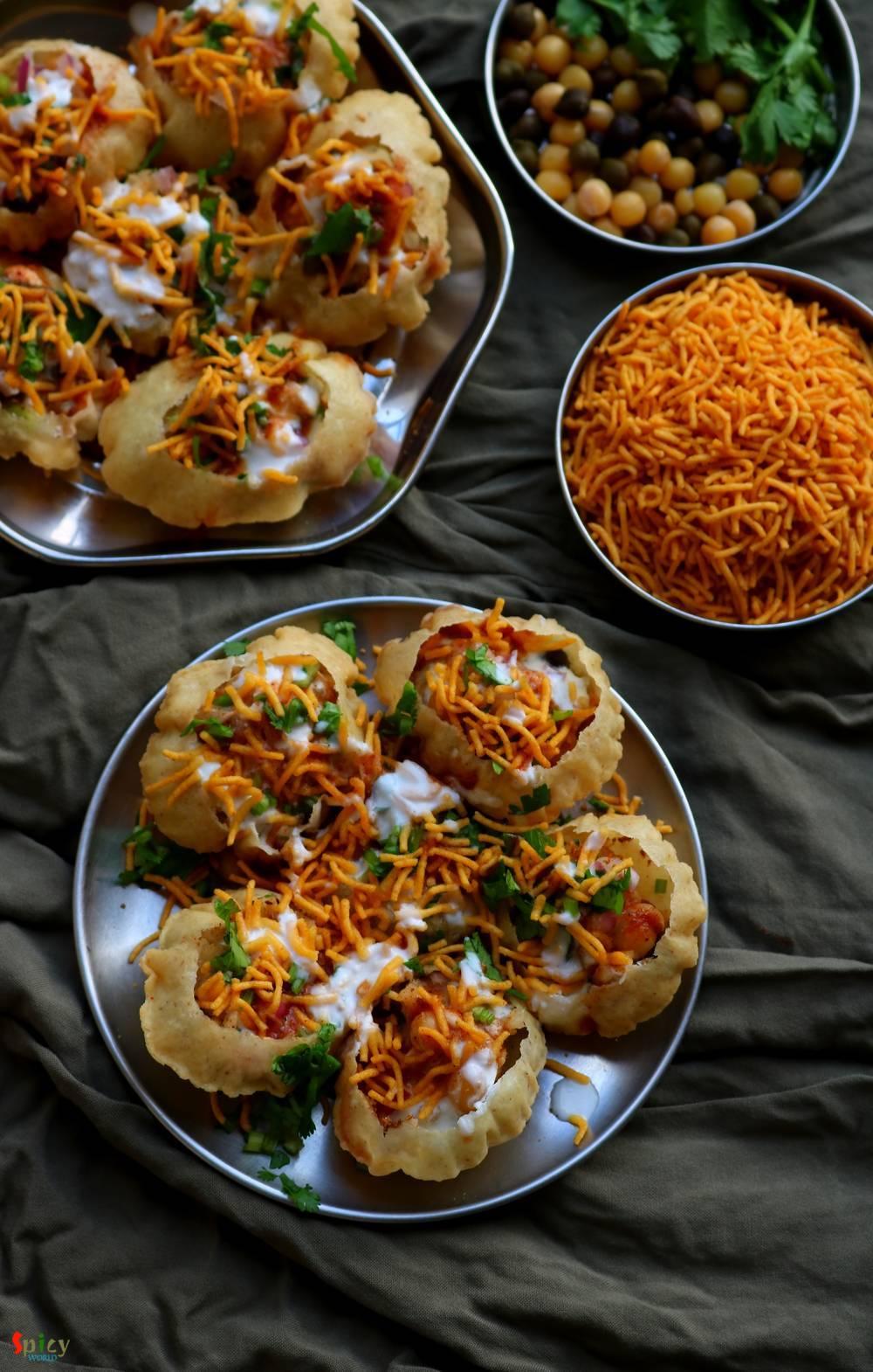 Doi Fuchka Dahi Puri Chaat Spicy World Simple And Easy