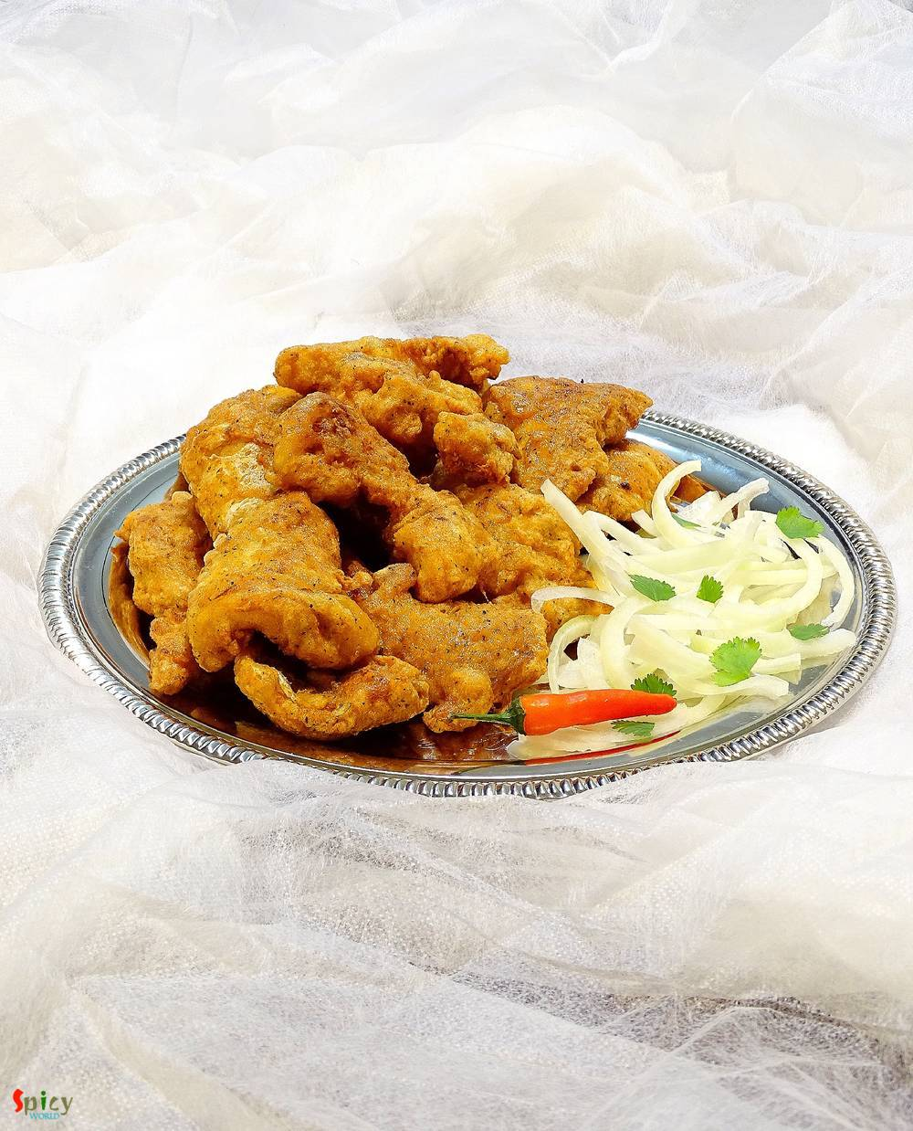 Cooking Step: Fish Pakora / Deep fried Fish Nuggets