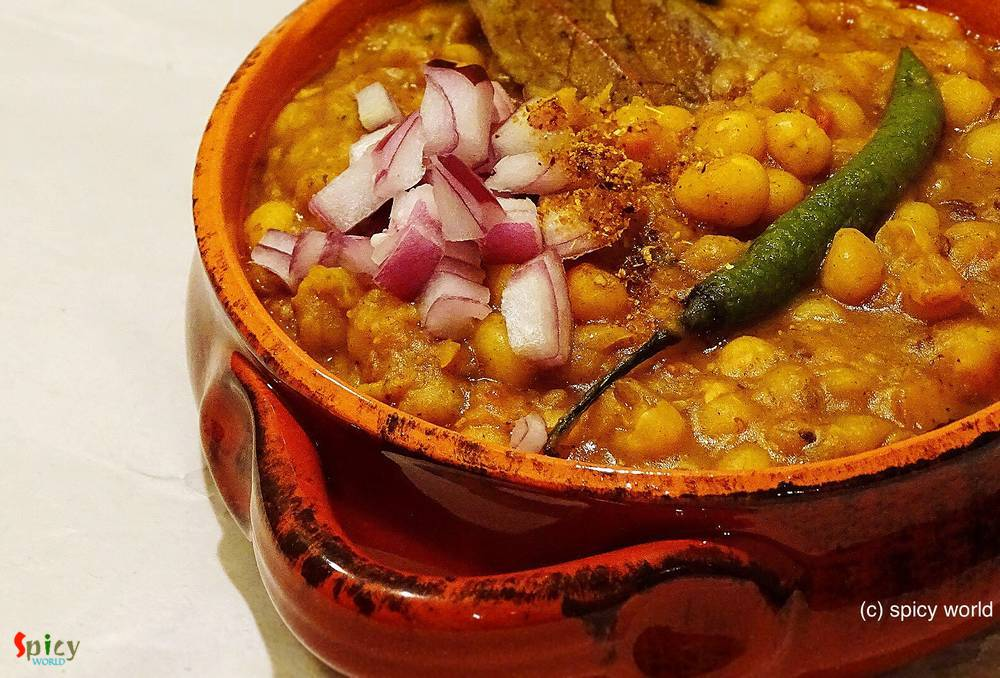 Cooking Step: Ghugni or Yellow peas curry