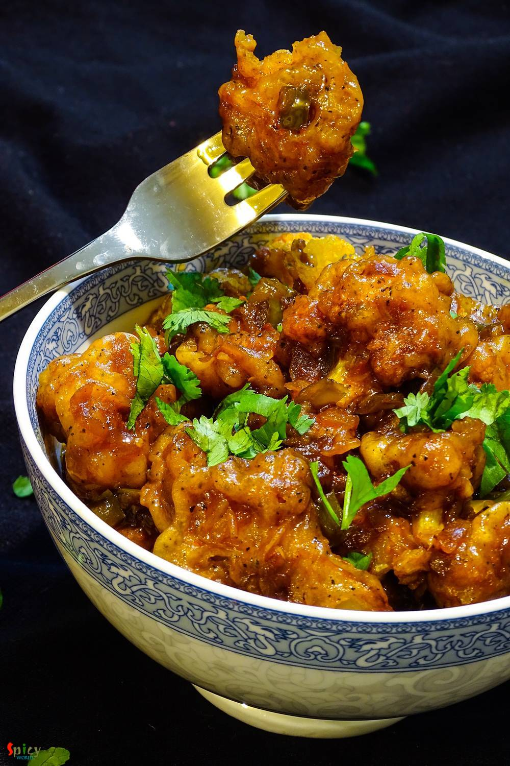 Gobi Manchurian  / Cauliflower fritters in Brown sauce