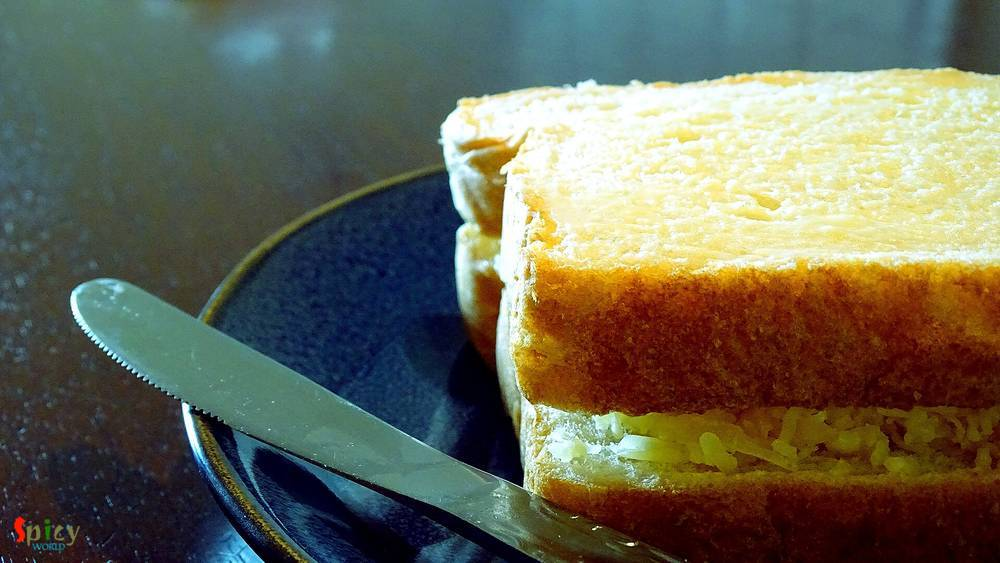 Cooking Step: Grilled Cheese Sandwich