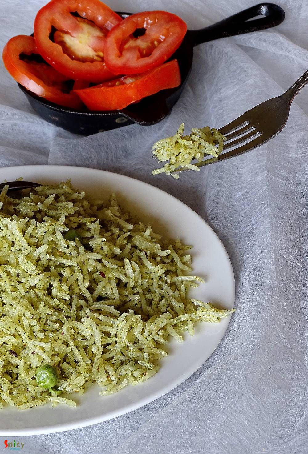 Cooking Step: Hara Pulao / Green Rice Pilaf