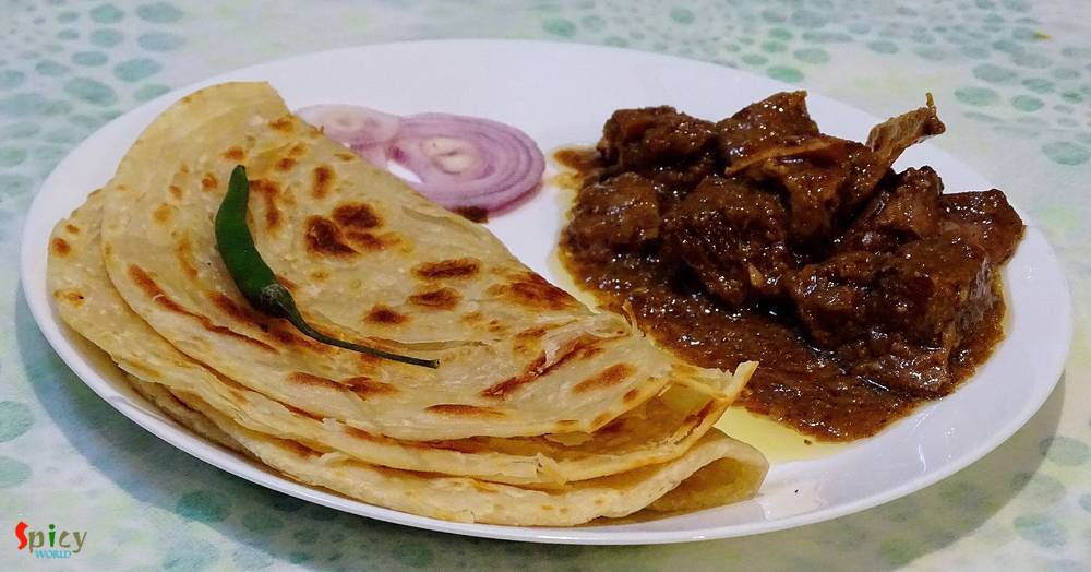lachha paratha layered fried bread spicy world simple