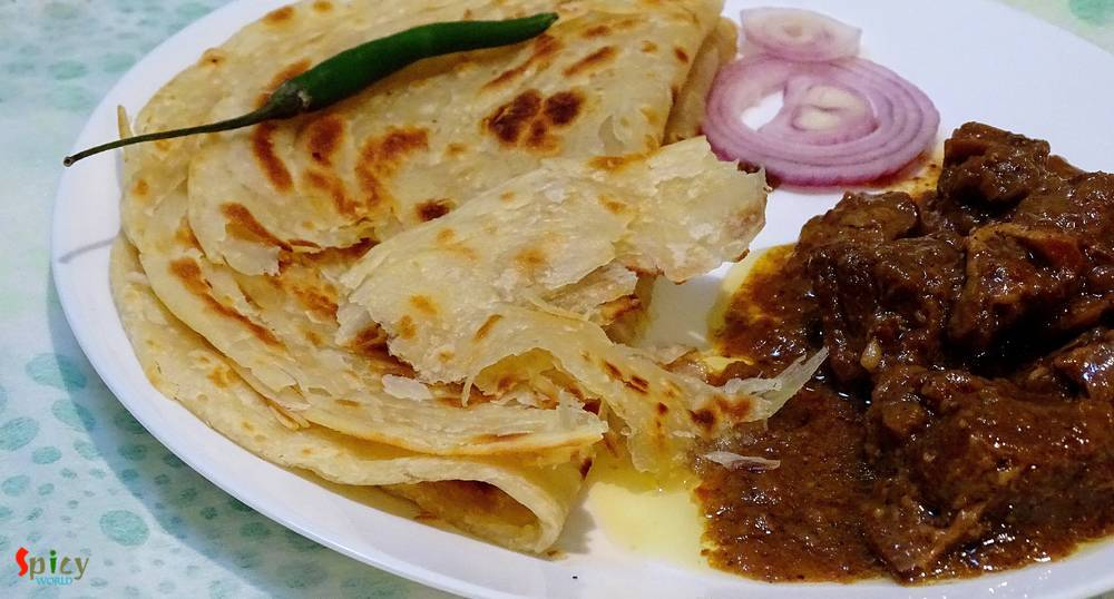 Lachha Paratha / Layered fried Bread