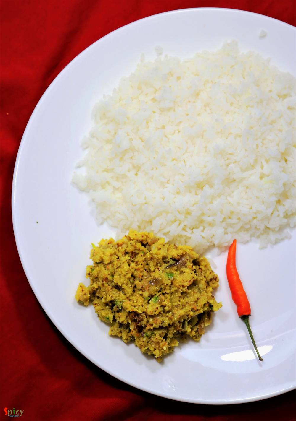 Aam Kasundi diye Chingri Bata / Prawn paste with Mango Mustard relish