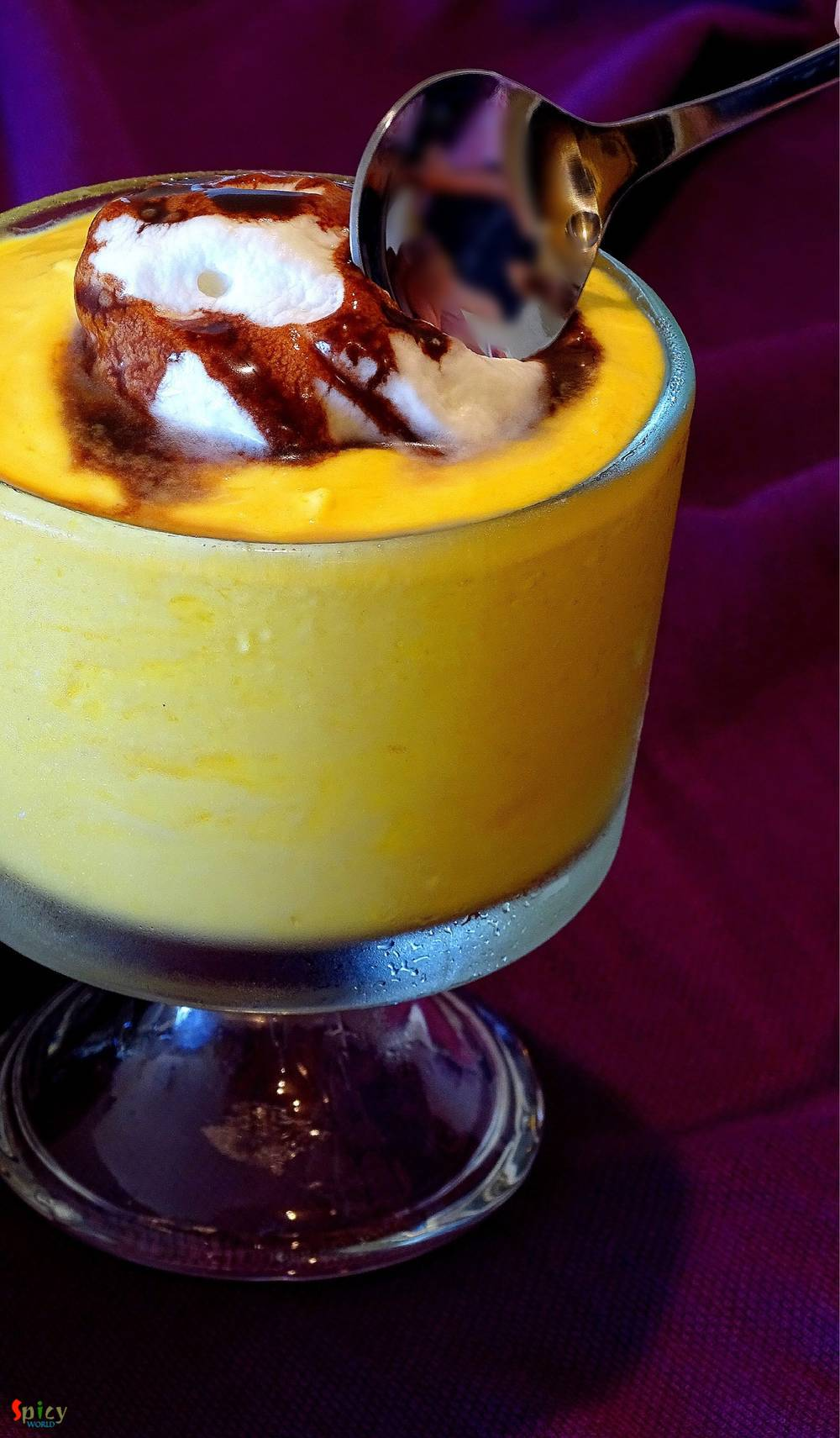 Cooking Step: Mango Mousse (Eggless)
