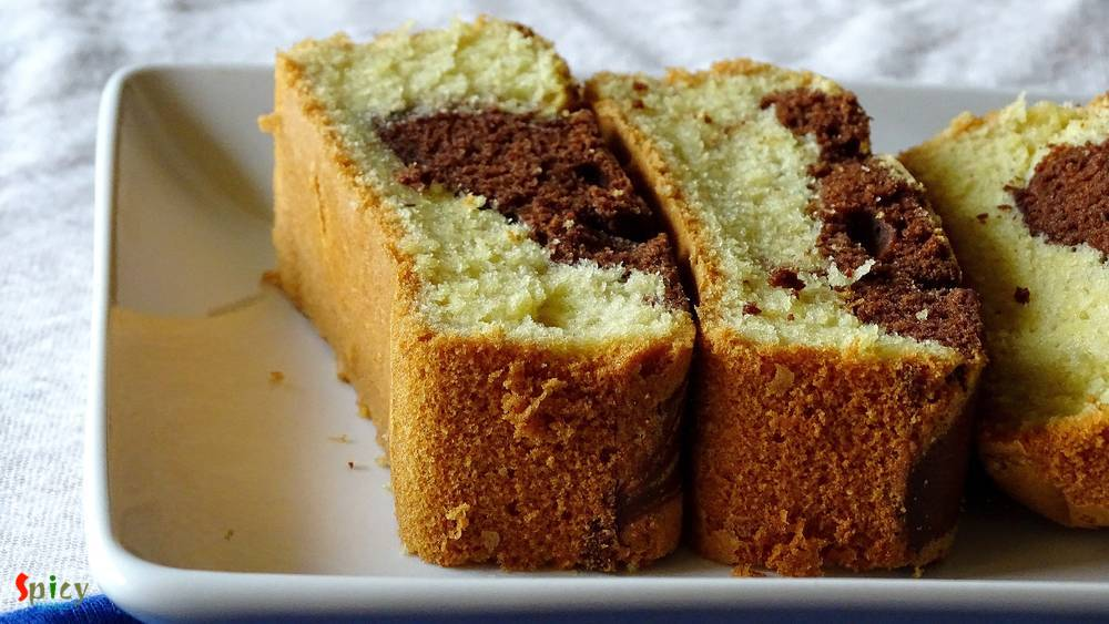 Cooking Step: Marble Cake