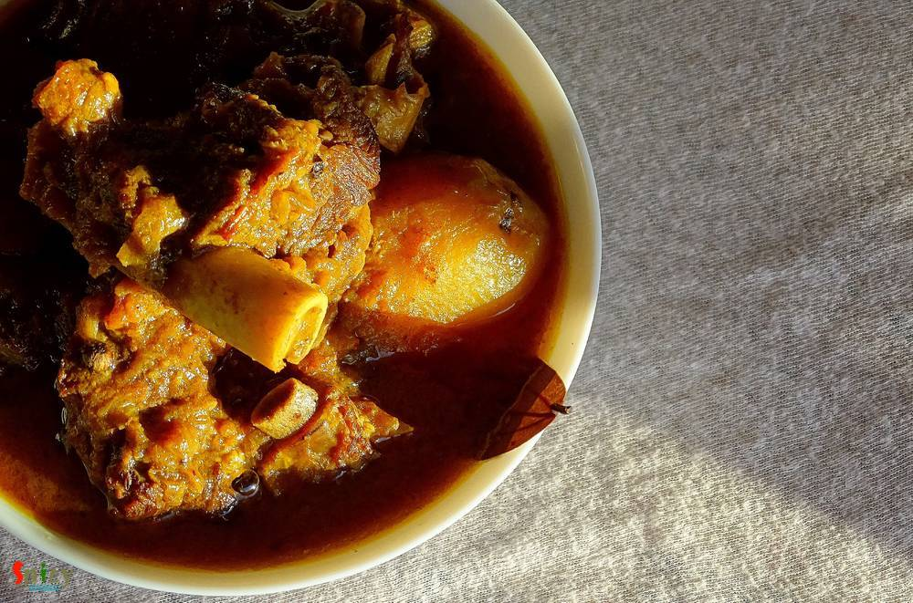 Cooking Step: Sunday's Mutton Curry / Robibarer Mangshor Jhol / Mutton er Laal-Jhol