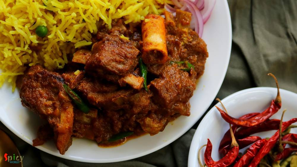 Mutton Kosha / Slow cooked Mutton curry