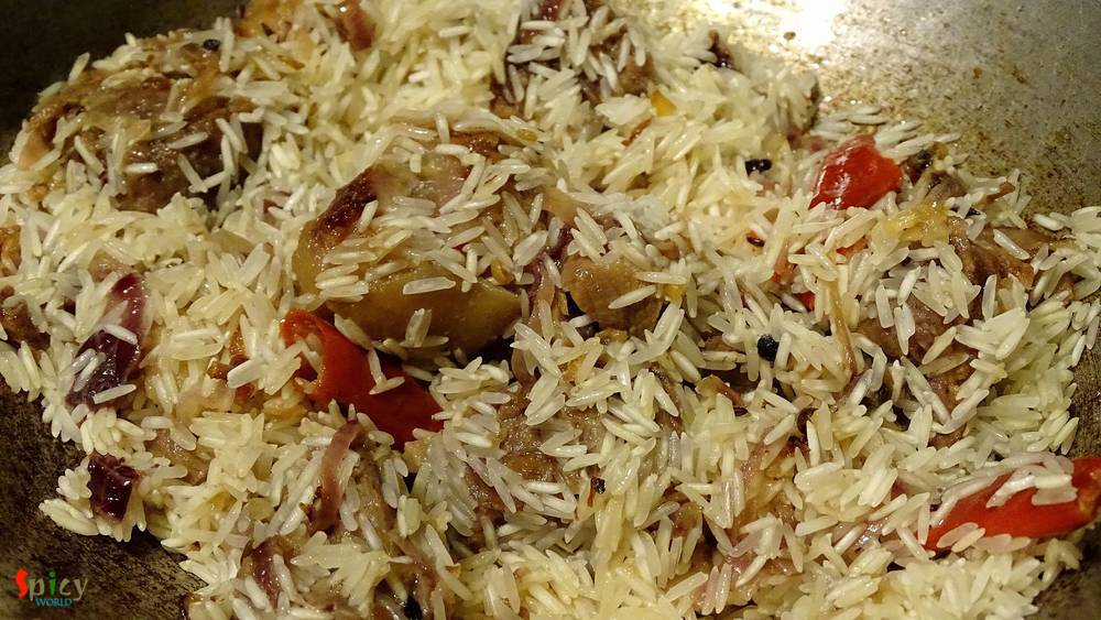 Cooking Step: Mutton Pulao / Yakhni Pulao