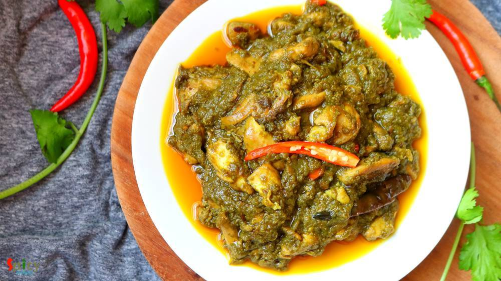Palak Chicken / Chicken cooked with Spinach puree