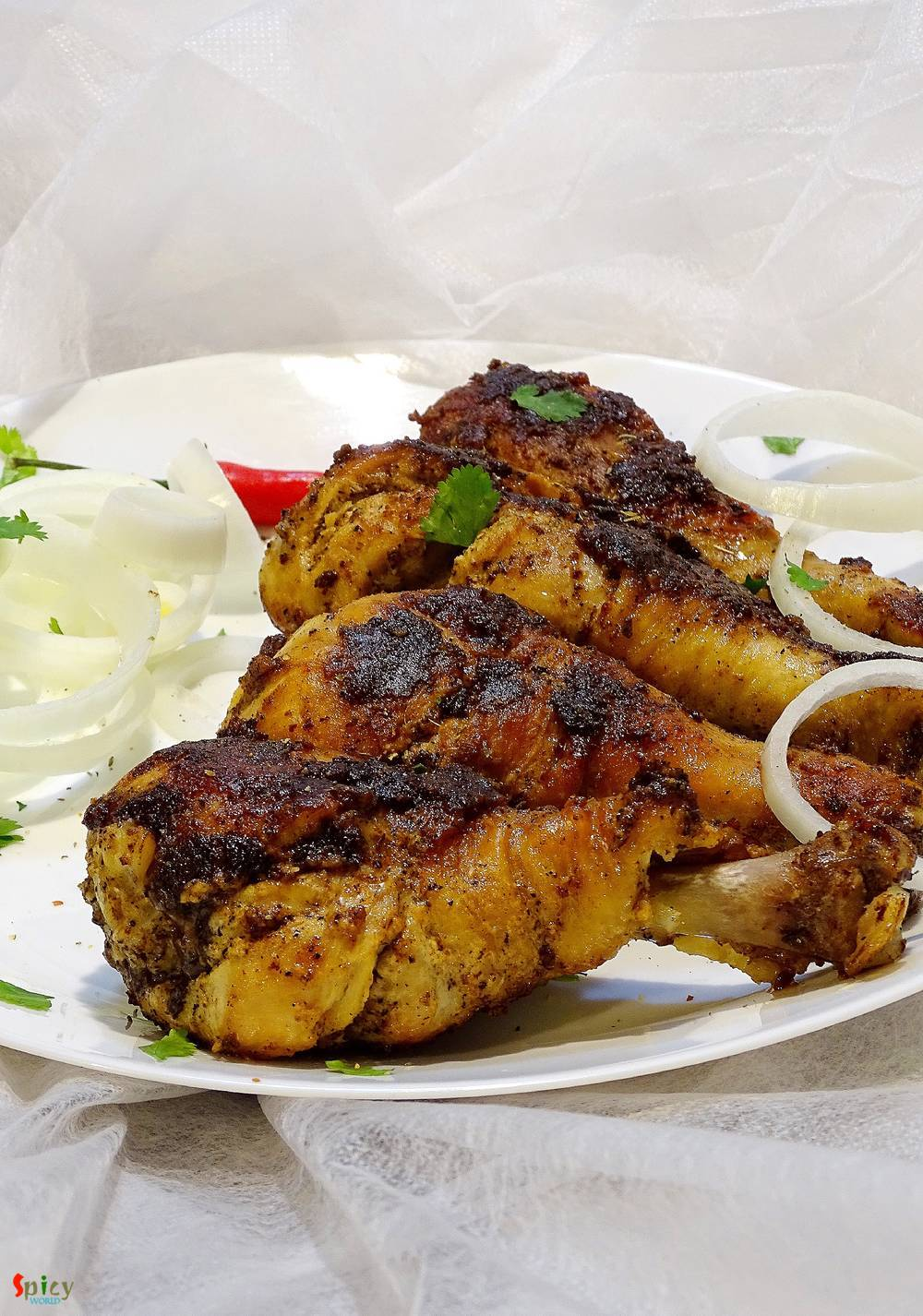 Cooking Step: Pan grilled Chicken Drumsticks