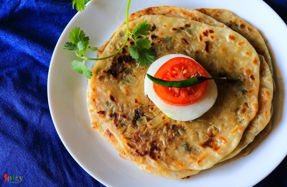 Pyaz Paratha Onion Stuffed Flat Bread Spicy World