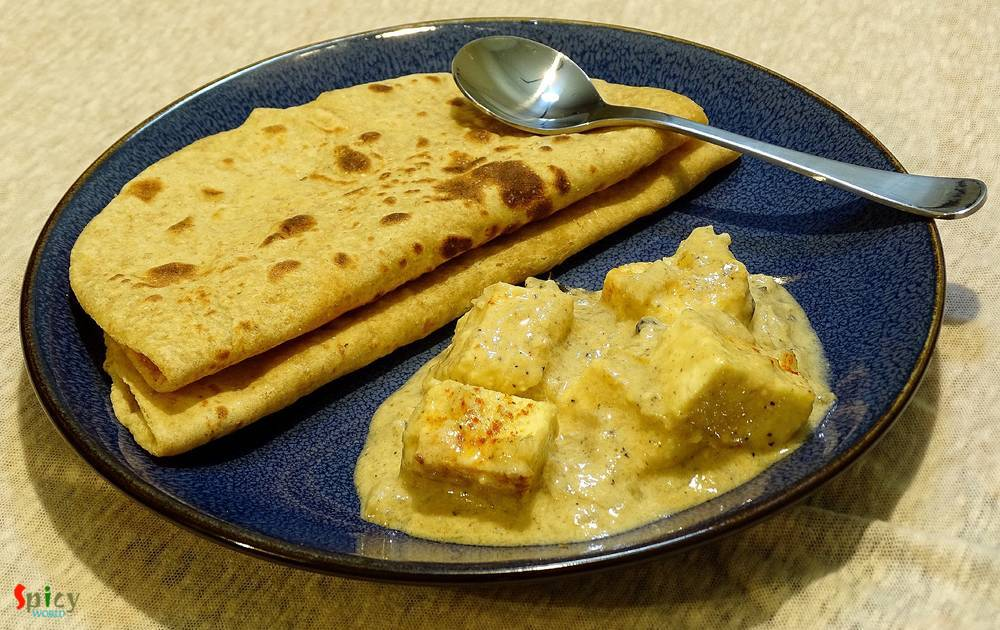 Cooking Step: Sahi Paneer Korma  / Paneer cooked in creamy nut based sauce