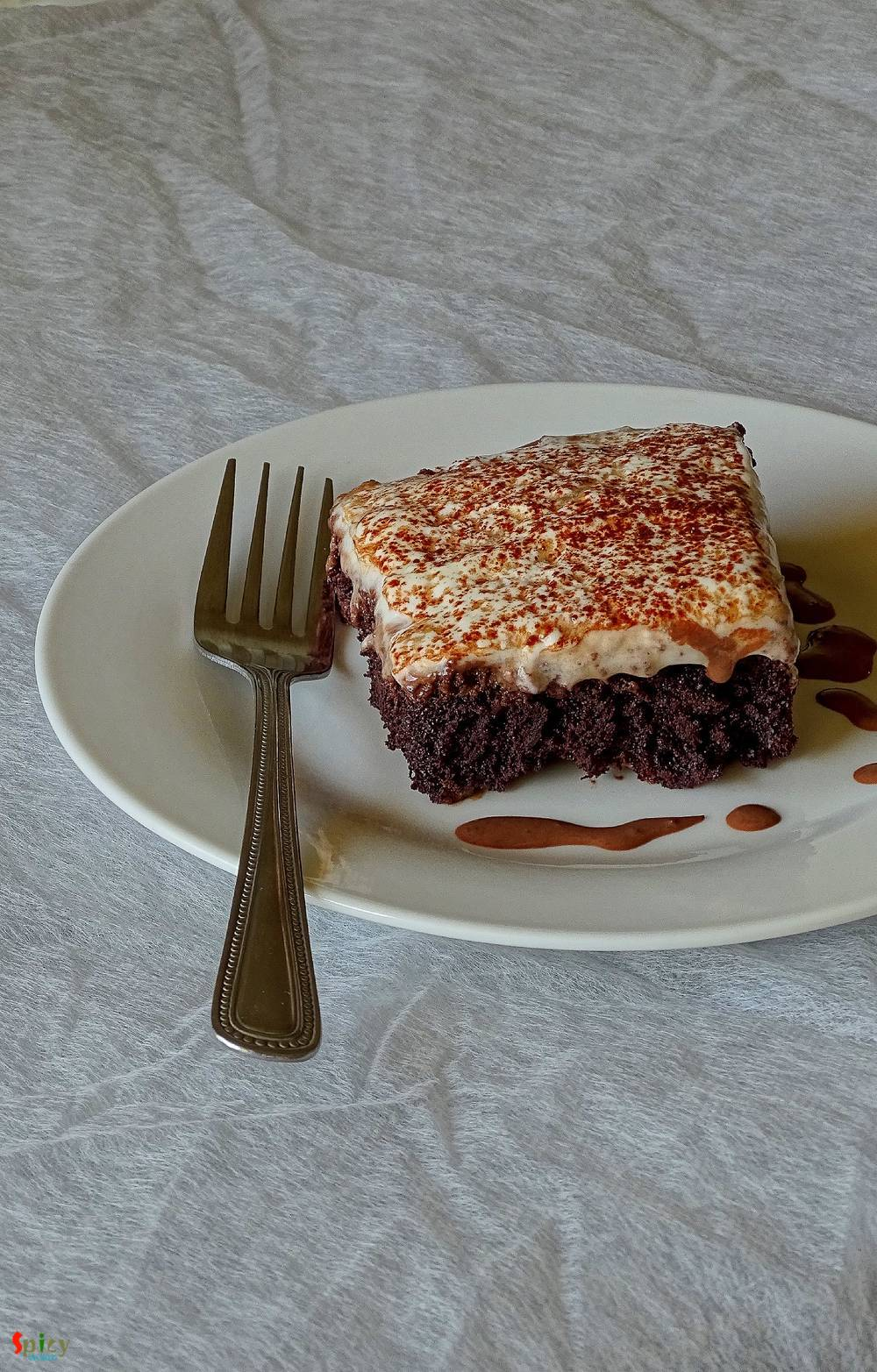 Chocolate Tres Leches Cake / 3 Milk Chocolate Cake (Eggless)
