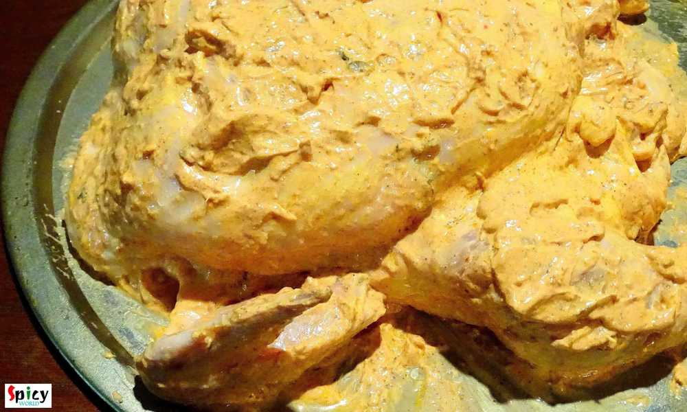 Cooking Step: Whole Tandoori Chicken